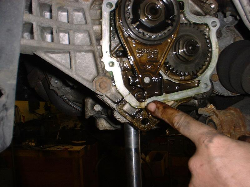 <p>Remove swarf from inside the bottom of the gearbox...