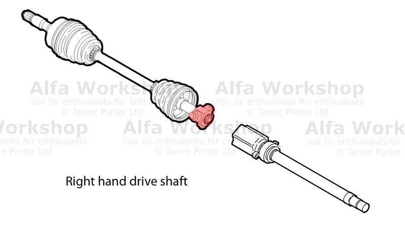 alfa romeo drive shaft