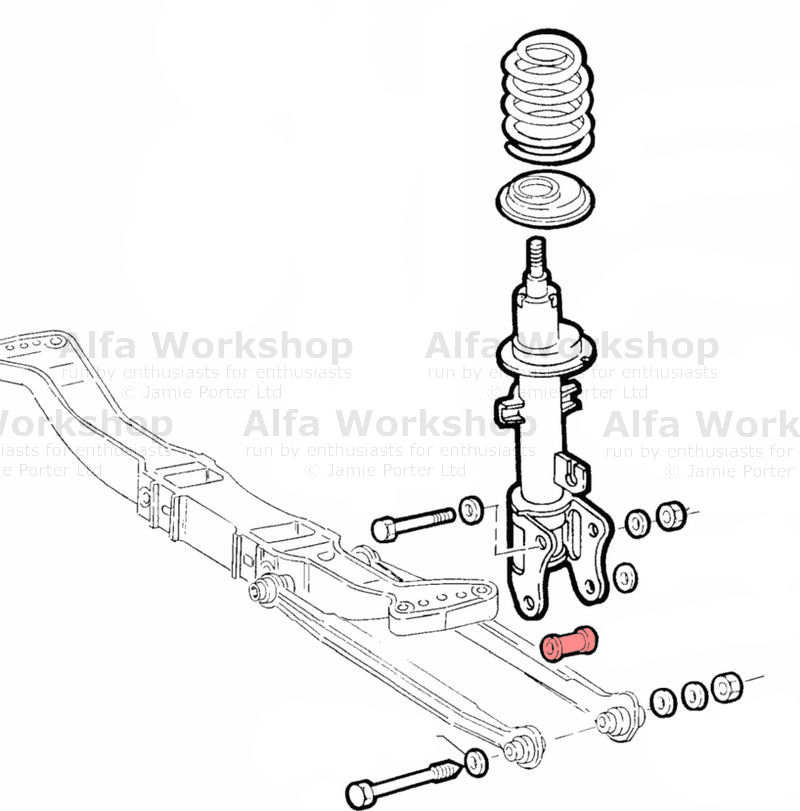 alfa romeo 147 rear radius arm