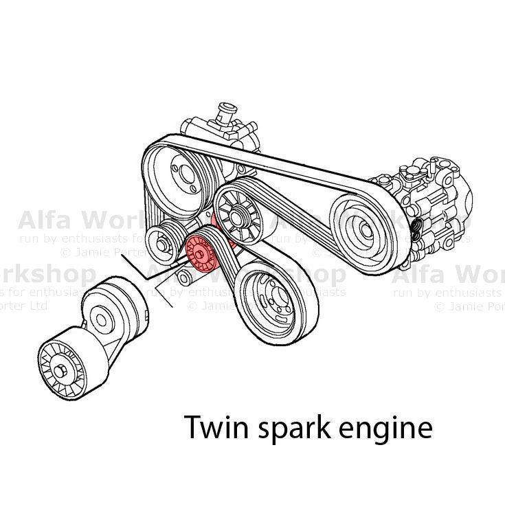 alfa romeo 147 auxiliary tensioner  idler